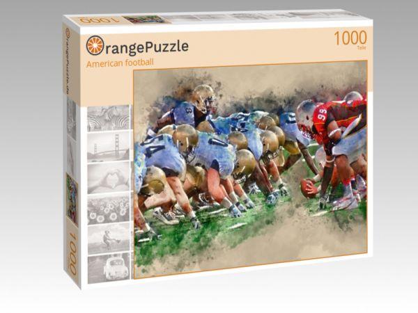 """Puzzle Motiv """"American football"""" - Puzzle-Schachtel zu 1000 Teile Puzzle"""