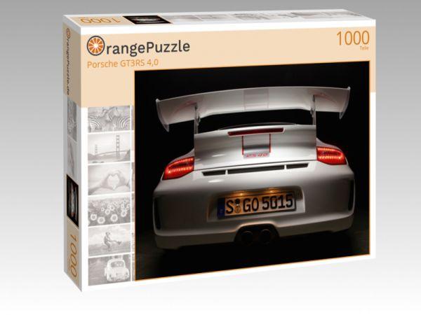 """Puzzle Motiv """"Porsche GT3RS 4,0"""" - Puzzle-Schachtel zu 1000 Teile Puzzle"""