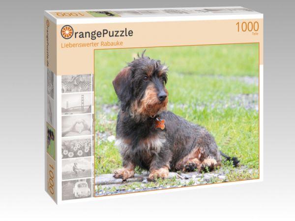 """Puzzle Motiv """"Liebenswerter Rabauke"""" - Puzzle-Schachtel zu 1000 Teile Puzzle"""