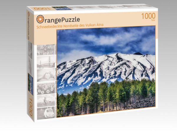 """Puzzle Motiv """"Schneebedeckte Nordseite des Vulkan Ätna"""" - Puzzle-Schachtel zu 1000 Teile Puzzle"""