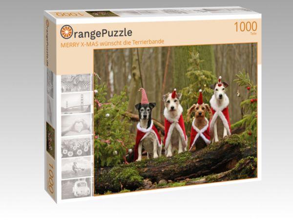 """Puzzle Motiv """"MERRY X-MAS wünscht die Terrierbande"""" - Puzzle-Schachtel zu 1000 Teile Puzzle"""