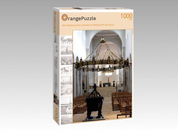 """Puzzle Motiv """"Der Heziloleuchter schwebt im Mittelschiff des Doms"""" - Puzzle-Schachtel zu 1000 Teile Puzzle"""
