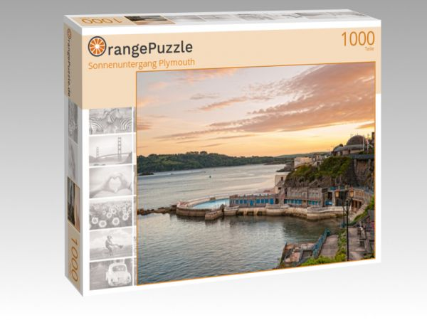 """Puzzle Motiv """"Sonnenuntergang Plymouth"""" - Puzzle-Schachtel zu 1000 Teile Puzzle"""