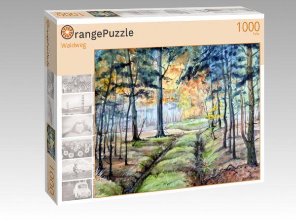 "Puzzle Motiv ""Waldweg"" - Puzzle-Schachtel zu 1000 Teile Puzzle"