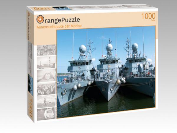 """Puzzle Motiv """"Minensuchboote der Marine"""" - Puzzle-Schachtel zu 1000 Teile Puzzle"""