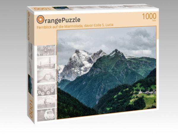 "Puzzle Motiv ""Fernblick auf die Marmolada, davor Colle S. Lucia"" - Puzzle-Schachtel zu 1000 Teile Puzzle"