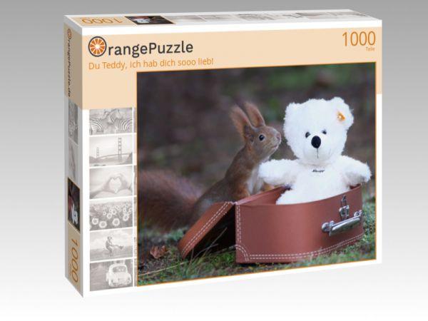 """Puzzle Motiv """"Du Teddy, ich hab dich sooo lieb!"""" - Puzzle-Schachtel zu 1000 Teile Puzzle"""