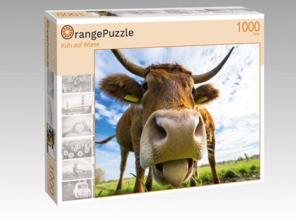 """Puzzle Motiv """"Kuh auf Wiese"""" - Puzzle-Schachtel zu 1000 Teile Puzzle"""