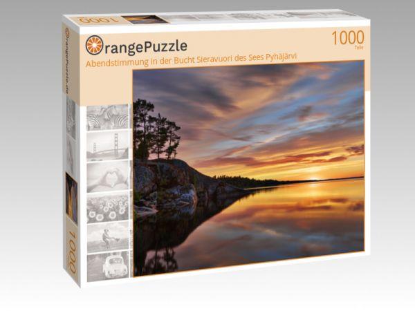 """Puzzle Motiv """"Abendstimmung in der Bucht Sieravuori des Sees Pyhäjärvi"""" - Puzzle-Schachtel zu 1000 Teile Puzzle"""