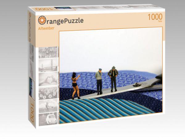 """Puzzle Motiv """"Altweiber"""" - Puzzle-Schachtel zu 1000 Teile Puzzle"""