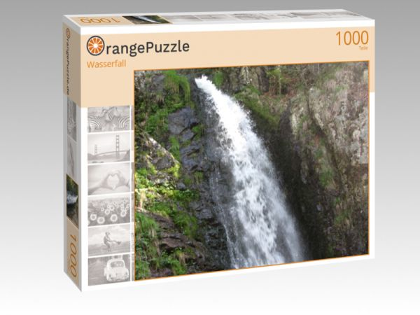 """Puzzle Motiv """"Wasserfall"""" - Puzzle-Schachtel zu 1000 Teile Puzzle"""