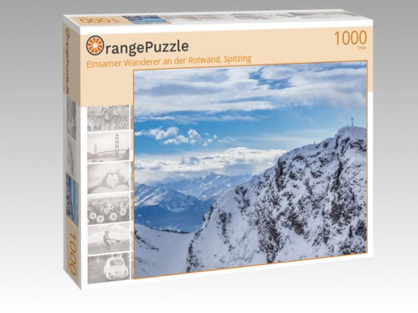"""Puzzle Motiv """"Einsamer Wanderer an der Rotwand, Spitzing"""" - Puzzle-Schachtel zu 1000 Teile Puzzle"""