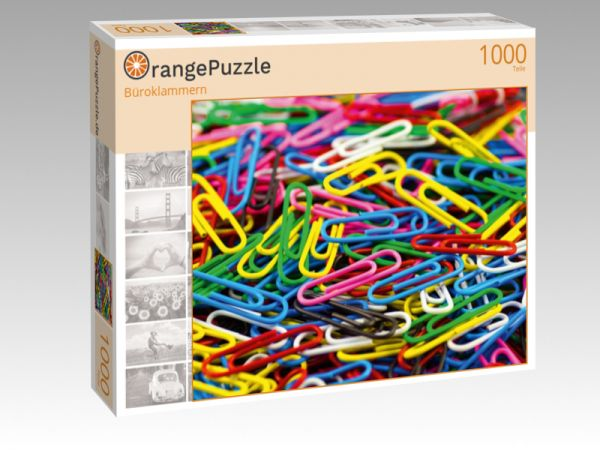 """Puzzle Motiv """"Büroklammern"""" - Puzzle-Schachtel zu 1000 Teile Puzzle"""