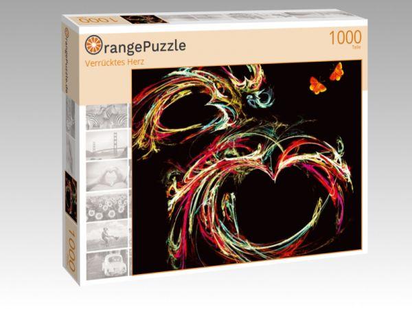 "Puzzle Motiv ""Verrücktes Herz"" - Puzzle-Schachtel zu 1000 Teile Puzzle"