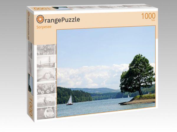 """Puzzle Motiv """"Sorpesee"""" - Puzzle-Schachtel zu 1000 Teile Puzzle"""