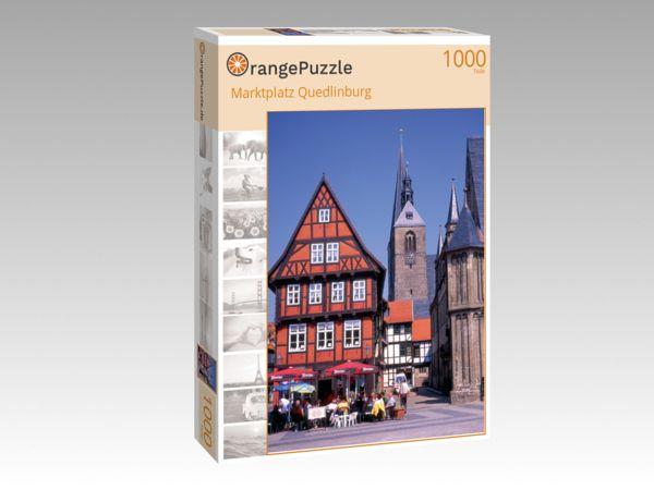 "Puzzle Motiv ""Marktplatz Quedlinburg"" - Puzzle-Schachtel zu 1000 Teile Puzzle"