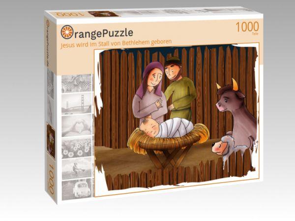 """Puzzle Motiv """"Jesus wird im Stall von Bethlehem geboren"""" - Puzzle-Schachtel zu 1000 Teile Puzzle"""