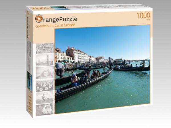 """Puzzle Motiv """"Gondeln im Canal Grande"""" - Puzzle-Schachtel zu 1000 Teile Puzzle"""