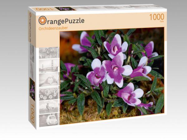 "Puzzle Motiv ""Orchideenzauber"" - Puzzle-Schachtel zu 1000 Teile Puzzle"