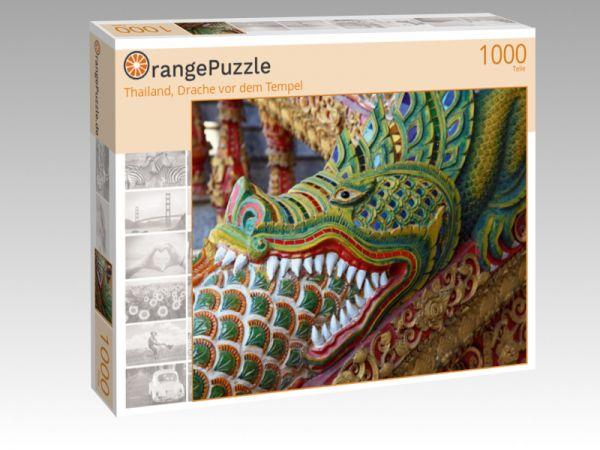 """Puzzle Motiv """"Thailand, Drache vor dem Tempel"""" - Puzzle-Schachtel zu 1000 Teile Puzzle"""
