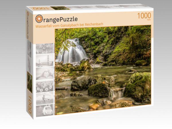 """Puzzle Motiv """"Wasserfall vom Gaisalpbach bei Reichenbach"""" - Puzzle-Schachtel zu 1000 Teile Puzzle"""