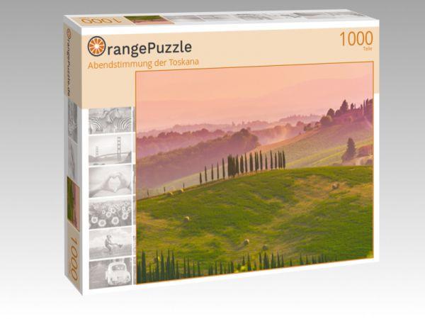 """Puzzle Motiv """"Abendstimmung der Toskana"""" - Puzzle-Schachtel zu 1000 Teile Puzzle"""