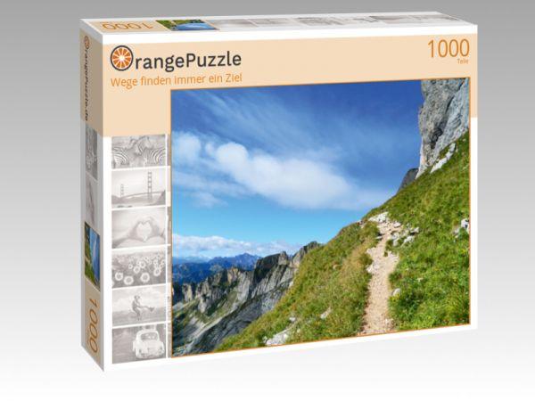 """Puzzle Motiv """"""""Wege finden immer ein Ziel"""""""" - Puzzle-Schachtel zu 1000 Teile Puzzle"""
