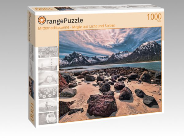"""Puzzle Motiv """"Mitternachtssonne - Magie aus Licht und Farben"""" - Puzzle-Schachtel zu 1000 Teile Puzzle"""