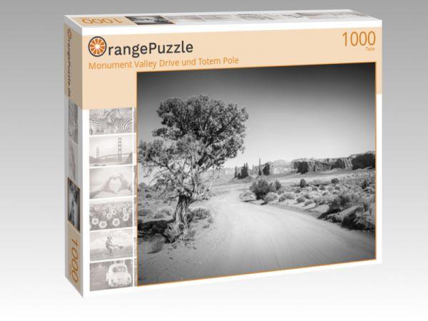 """Puzzle Motiv """"Monument Valley Drive und Totem Pole"""" - Puzzle-Schachtel zu 1000 Teile Puzzle"""