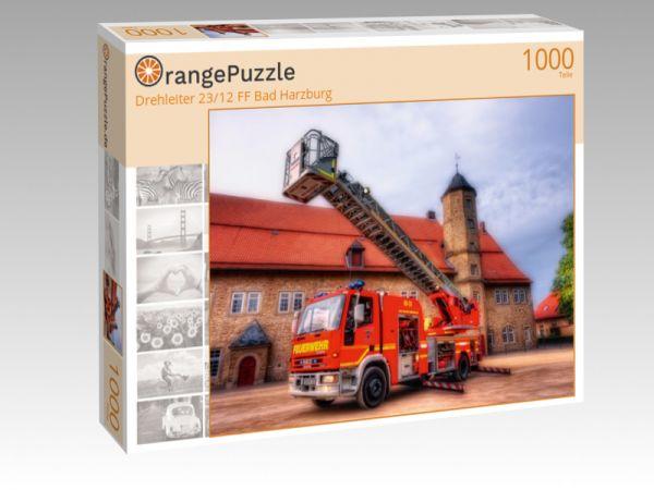 """Puzzle Motiv """"Drehleiter 23/12 FF Bad Harzburg"""" - Puzzle-Schachtel zu 1000 Teile Puzzle"""
