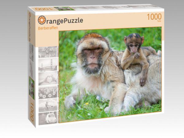 """Puzzle Motiv """"Berberaffen"""" - Puzzle-Schachtel zu 1000 Teile Puzzle"""