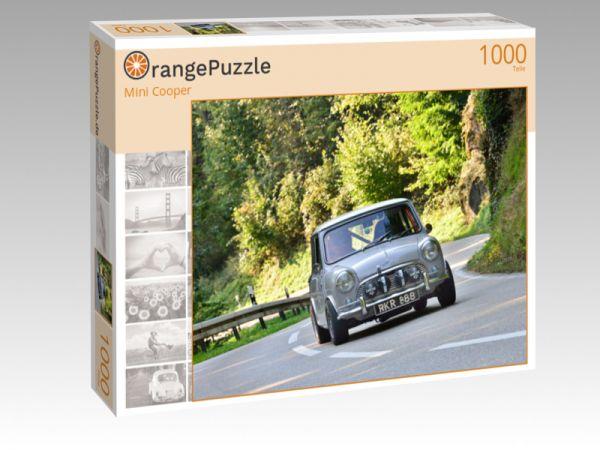 """Puzzle Motiv """"Mini Cooper"""" - Puzzle-Schachtel zu 1000 Teile Puzzle"""