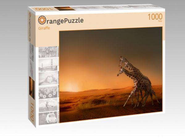"Puzzle Motiv ""Giraffe"" - Puzzle-Schachtel zu 1000 Teile Puzzle"