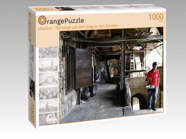 """Puzzle Motiv """"Istanbul - Tee-Junge auf dem Weg zu den Kunden"""" - Puzzle-Schachtel zu 1000 Teile Puzzle"""