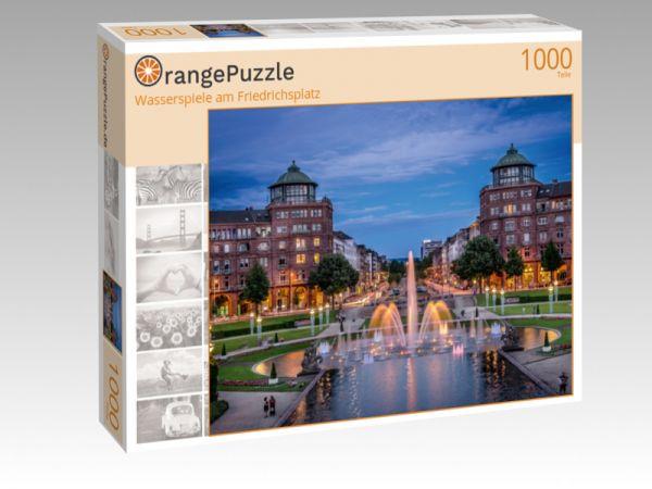 """Puzzle Motiv """"Wasserspiele am Friedrichsplatz"""" - Puzzle-Schachtel zu 1000 Teile Puzzle"""