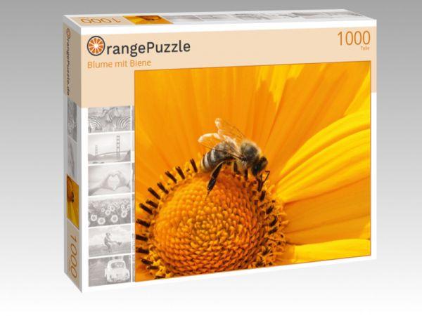 "Puzzle Motiv ""Blume mit Biene"" - Puzzle-Schachtel zu 1000 Teile Puzzle"
