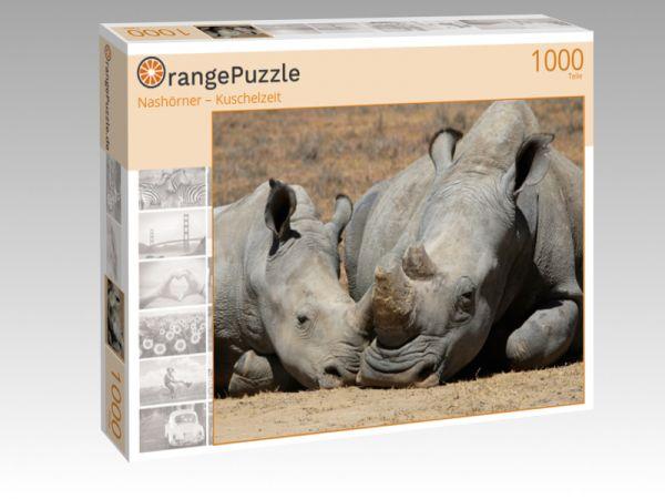 """Puzzle Motiv """"Nashörner – Kuschelzeit"""" - Puzzle-Schachtel zu 1000 Teile Puzzle"""