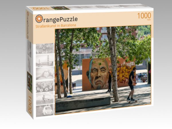"""Puzzle Motiv """"Straßenkunst in Barcelona"""" - Puzzle-Schachtel zu 1000 Teile Puzzle"""