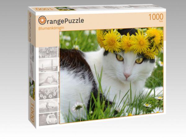 """Puzzle Motiv """"Blumenkönigin"""" - Puzzle-Schachtel zu 1000 Teile Puzzle"""