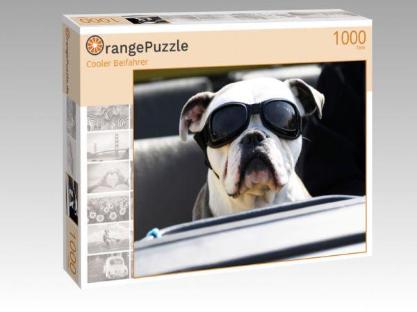 """Puzzle Motiv """"Cooler Beifahrer"""" - Puzzle-Schachtel zu 1000 Teile Puzzle"""