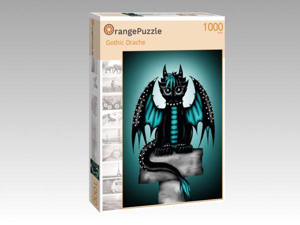 """Puzzle Motiv """"Gothic Drache"""" - Puzzle-Schachtel zu 1000 Teile Puzzle"""