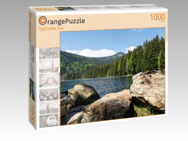 """Puzzle Motiv """"Idyllischer See"""" - Puzzle-Schachtel zu 1000 Teile Puzzle"""