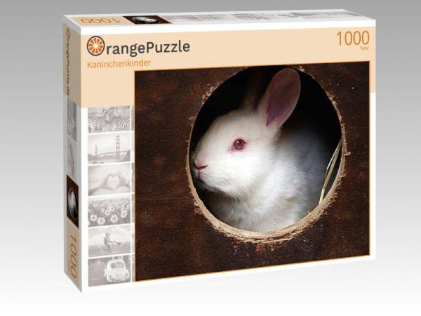 """Puzzle Motiv """"Kaninchenkinder"""" - Puzzle-Schachtel zu 1000 Teile Puzzle"""