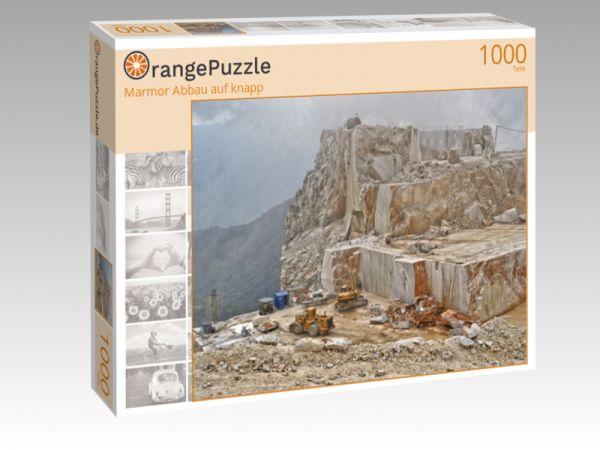 """Puzzle Motiv """"Marmor Abbau auf knapp"""" - Puzzle-Schachtel zu 1000 Teile Puzzle"""