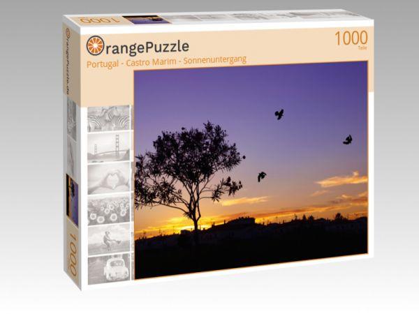 """Puzzle Motiv """"Portugal - Castro Marim - Sonnenuntergang"""" - Puzzle-Schachtel zu 1000 Teile Puzzle"""