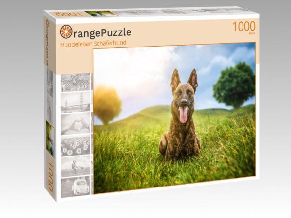 """Puzzle Motiv """"Hundeleben Schäferhund"""" - Puzzle-Schachtel zu 1000 Teile Puzzle"""