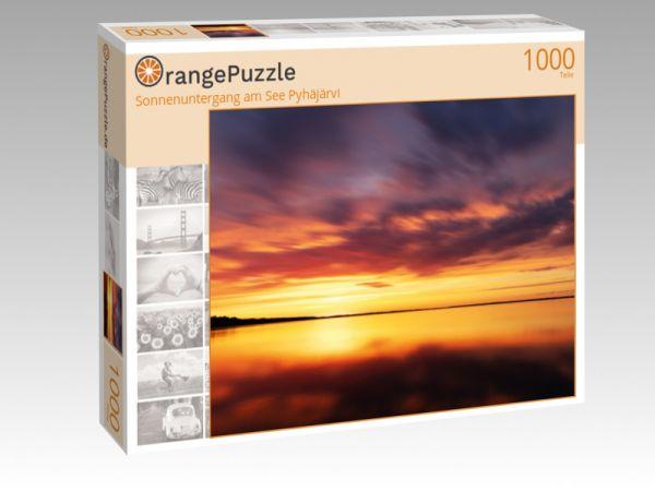 """Puzzle Motiv """"Sonnenuntergang am See Pyhäjärvi"""" - Puzzle-Schachtel zu 1000 Teile Puzzle"""