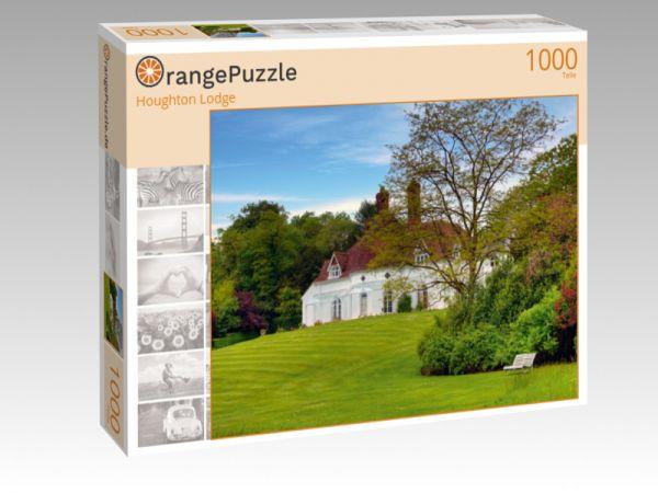 """Puzzle Motiv """"Houghton Lodge"""" - Puzzle-Schachtel zu 1000 Teile Puzzle"""