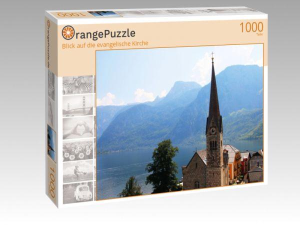 """Puzzle Motiv """"Blick auf die evangelische Kirche"""" - Puzzle-Schachtel zu 1000 Teile Puzzle"""