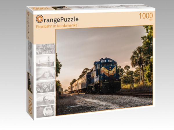 """Puzzle Motiv """"Eisenbahn in Nordamerika"""" - Puzzle-Schachtel zu 1000 Teile Puzzle"""